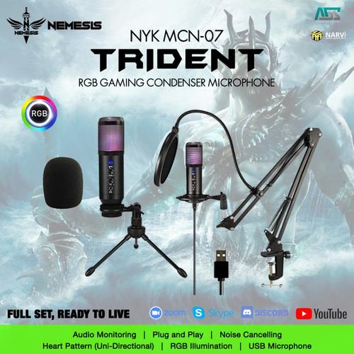 Foto Produk NYK NEMESIS MCN-07 Trident Condenser - Gaming Microphone dari Apparel Gaming