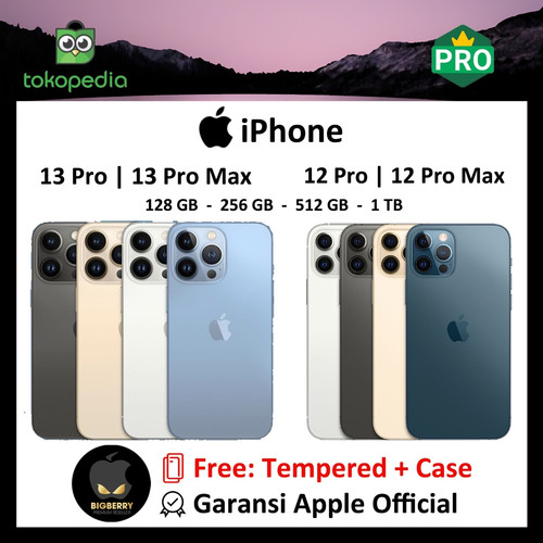 Foto Produk NEW iPhone 128GB 256GB 512GB 12 Pro / Max Blue Gold Graphite 13 Silver - 12 PRO SINGLE, 128GB dari Big Berry Cellular