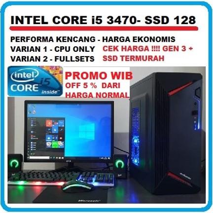 Foto Produk PC RAKITAN INTEL CORE i5 3470/SSD 128 GB - PC Only dari K - STYLE