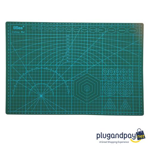 Foto Produk Work Cutting Mat Pad A3 45 x 30cm Alas Potong Meja Hijau - plugandpay dari plugandpay