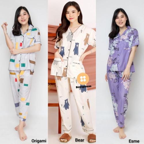 Foto Produk baju tidur wanita/piyama wanita/baju tidur murah MOTIF FLAMBOYAN dari Distro Polosan