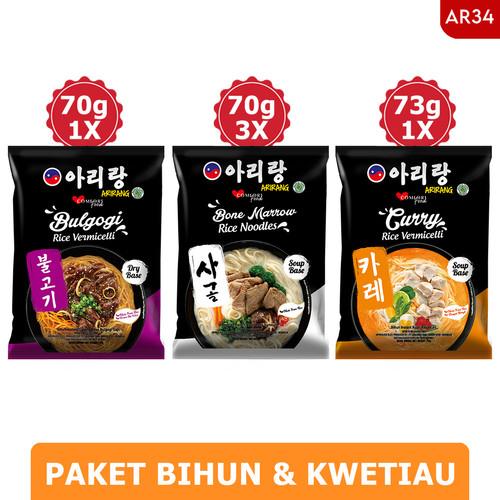 Foto Produk ARIRANG Bone Marrow Rice Noodle 3pcs Free 1pc Curry+1pc Bulgogi (AR34) dari Arirang Official Store