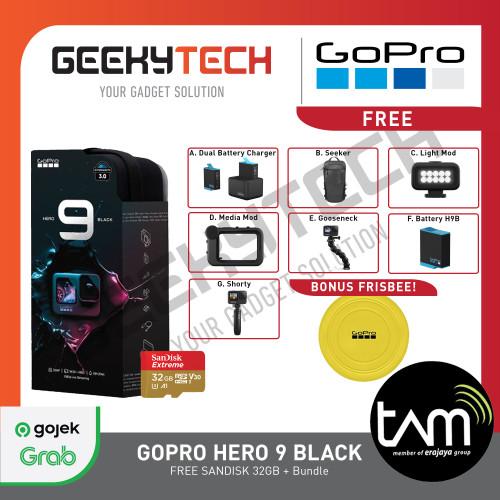Foto Produk GoPro HERO9 Black / HERO 9 Black - Garansi Resmi TAM - Paket C + 32 GB dari GeekyTech Official