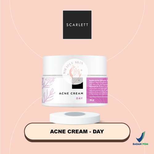 Foto Produk SCARLETT Acne Day Cream & Acne Night Cream - 20gr - Acne Day Cream dari MiracleSkin-id