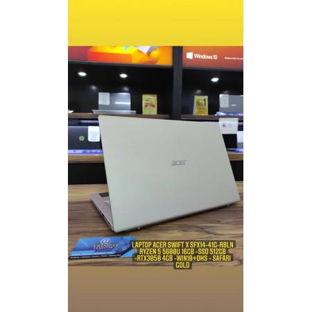 Foto Produk Laptop Acer Swift X SFX14-41G-R8LN Ryzen 5 5600U 16GB -SSD 512GB dari ArinGoComputer