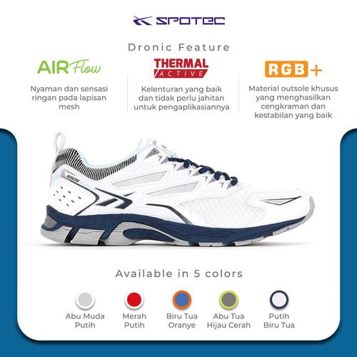 Foto Produk SPOTEC Sepatu Running Dronic Putih - Biru Tua - 37 dari Spotec Official Store