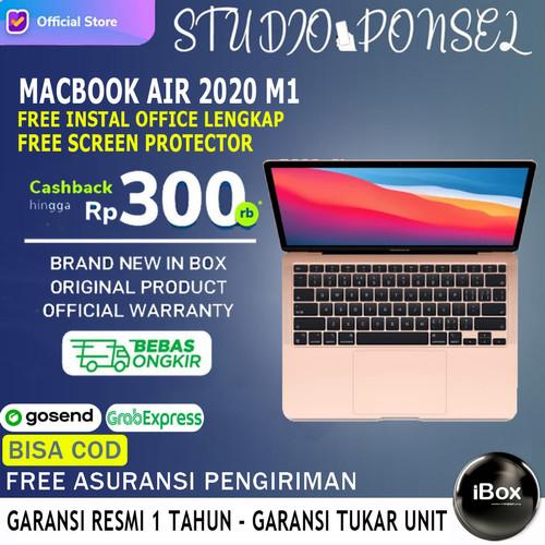 Foto Produk Apple Macbook Air 2020 M1 Chip 13 inch 512GB Touch ID Grey Silver Gold - Inter JAPAN, 256GB Silver dari Studio Ponsel