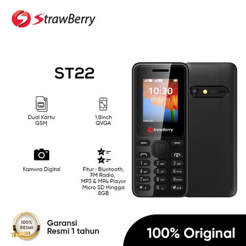 Foto Produk Strawberry ST22 | Handphone Candybar HP Murah Kamera Bluetooth 16GB - Black dari Strawberry Official