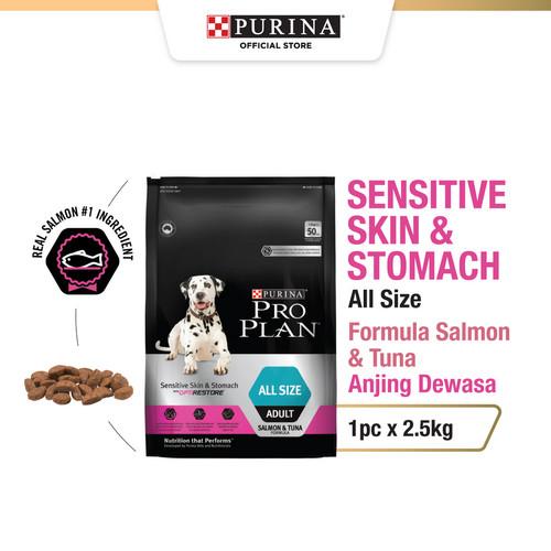 Foto Produk PRO PLAN Dog Adult Sensitive Skin&Stomach All Size Salmon & Tuna 2,5kg dari PURINA store