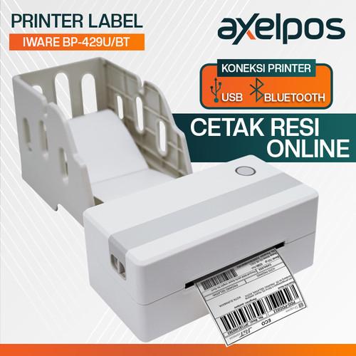 Foto Produk PRINTER BARCODE LABEL PENGIRIMAN BP-428B DIRECT THERMAL 108mm/A6 USB - USB dari axelpos