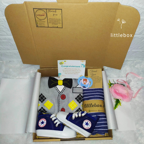 Foto Produk HAMPERS BABY NEW BORN BOY SETELAN BAJU BAYI LAHIRAN LAKI LAKI KADO BOX dari littleboxcom