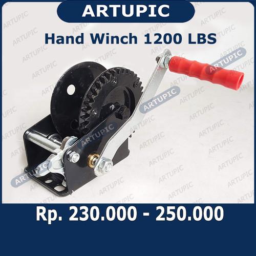 Foto Produk Hand Winch 1200 LBS Handwinch Katrol Kerekan Tangan Pengatur Ketinggia dari ArtupicPeralatanPeternak