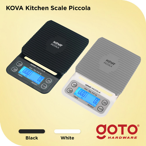 Foto Produk Timbangan Digital Kopi Coffee Scale Timer 3kg 0.1 pour over V60 - Putih dari GOTO Hardware