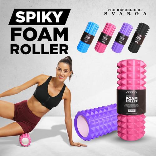 Foto Produk Svarga 30cm Spiky Foam Roller   Massage Roller - Biru Muda dari SVARGA YOGA