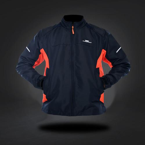 Foto Produk Jaket motor RAPID AGRESSIVE riding style reflektif printing - Navy/Orange, S/M dari Rapidjacket
