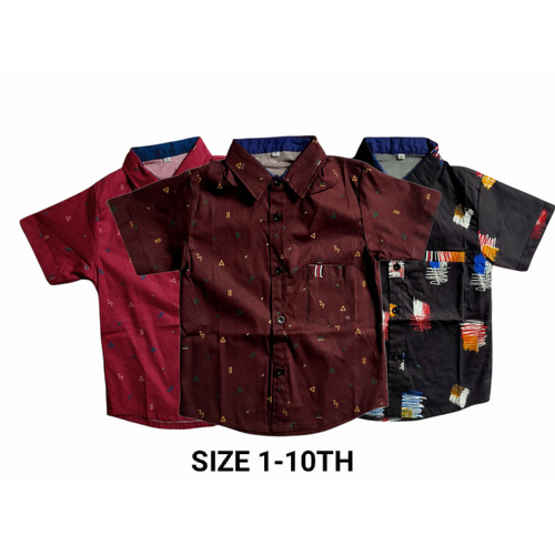 Foto Produk Kemeja Anak Motif Size 1-10thn - UKURAN 8 dari hafiya kids shop 2