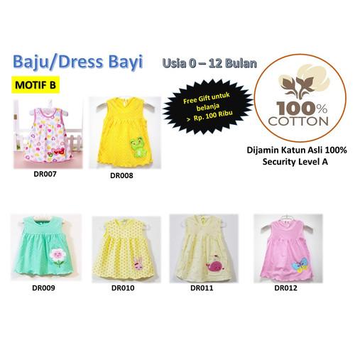 Foto Produk Baju/Dress bayi Perempuan0-6 Bulan Katun 100% Import Motif B dari Istiyati collection