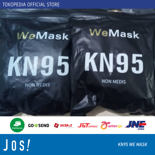 Foto Produk Masker KN95 impor Face Mask Masker KN 95 - KN95 5Ply Black dari J O S