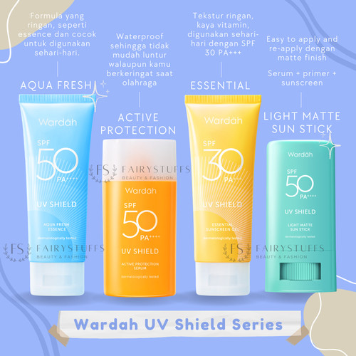 Foto Produk Wardah UV Shield Aqua Fresh Essence Active Protection SPF 50 Sunscreen - Essential SPF30 dari fairystuffs
