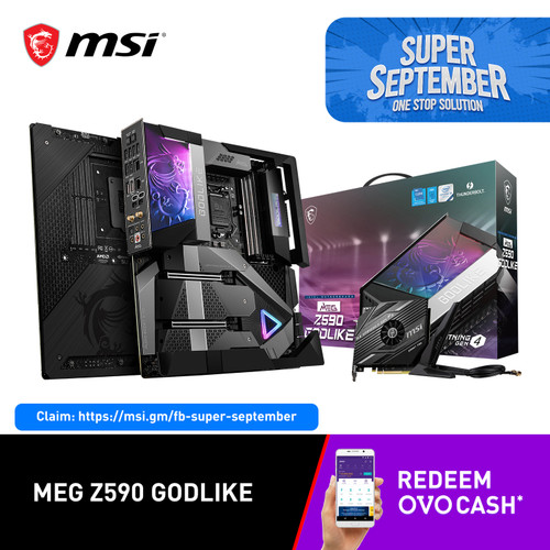 Foto Produk MSI MEG Z590 GODLIKE [E-ATX | LGA 1200 | Gen 11] dari MSI Shop ID