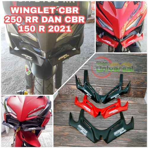 Foto Produk WINGLET CBR 250 RR winglet honda cbr250RR winglet cbr 250rr - hitam doff dari Shop Universal