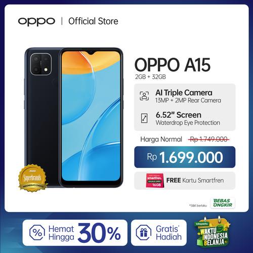 Foto Produk OPPO A15 Smartphone 2GB/32GB (Garansi Resmi) Flash Promo - Hitam dari OPPO OFFICIAL STORE