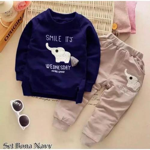 Foto Produk stelan baju anak laki laki 1-6 tahun// baju anak laki laki - navy, 0-6 bulan dari RAZAAk_STORE11