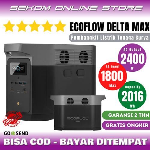 Foto Produk ECOFLOW Delta Max Power Station Genset Listrik Tenaga Surya 2400W dari SEKOM ONLINE STORE