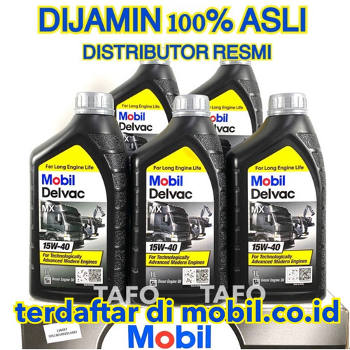 Foto Produk OLI MOBIL DELVAC MX 15w 40 1 LITER CI-4 ASLI dari Tafo