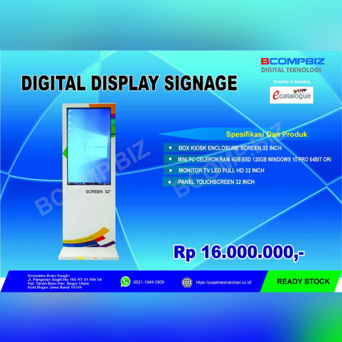 Foto Produk Kiosk Digital Signage 32 inch dari Bcompbiz Digital Teknologi