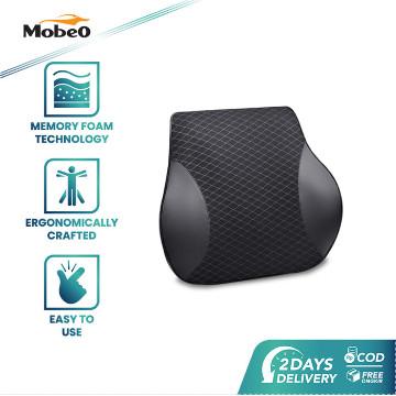 Foto Produk Mobeo Bantal Mobil Sandaran Leher / Punggung Memory Foam + Katun Linen - Punggung dari Mobeo Official Store