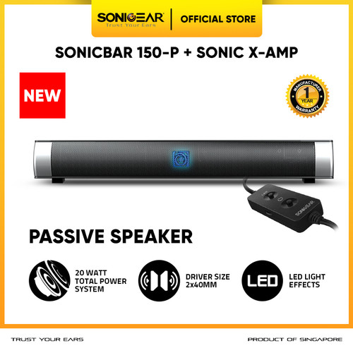 Foto Produk Audiobox Sonicbar 150P soundbar PassiveSpeaker Sistem(Garansi 1Tahun) - No Bluetooth dari Sonicgear Official Store