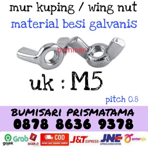 Foto Produk MUR KUPING M5 / WING NUT PUTIH / MUR KUPING MURAH dari bumisariprismatama