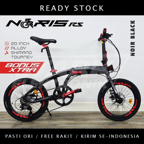 Foto Produk Pacific NORIS RS 16 & 20 inch Sepeda Lipat Folding Bike - Noir Black, Ban 20inch dari Stark Elektronik