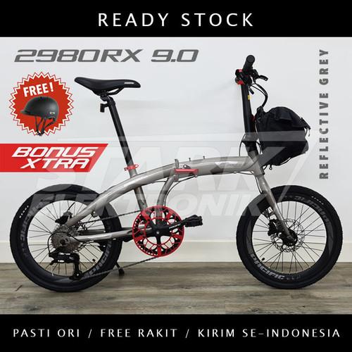 Foto Produk Pacific 2980 RX 9.0 Sepeda Lipat Folding Bike - Reflective Grey, Ban 20inch dari Stark Elektronik