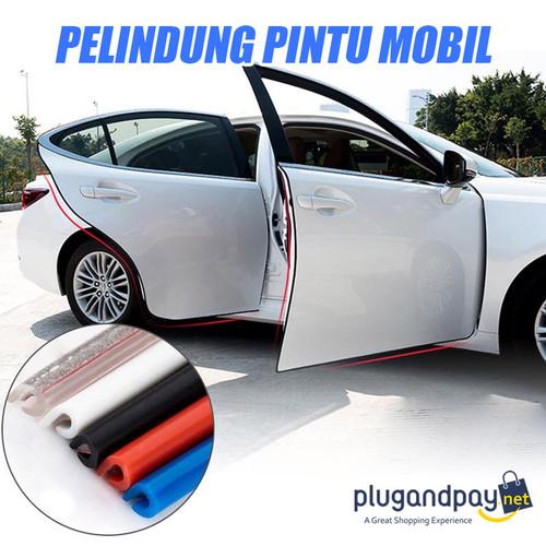 Foto Produk Rubber Strip Karet Lis Pelindung Pintu Mobil Hitam Putih Transparan 5m dari plugandpay
