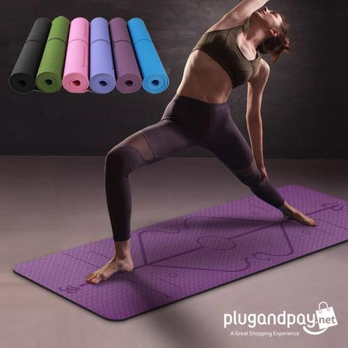 Foto Produk Karpet Pilates Yoga Mat Anti Slip TPE 183 x 61 CM Alas Fitness dari plugandpay