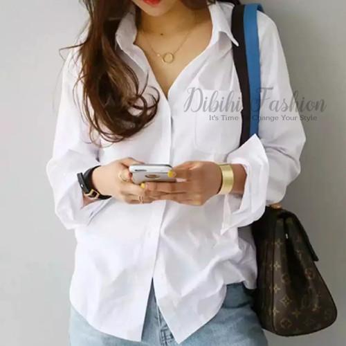 Foto Produk Kemeja Putih Wanita / Kemeja Kerja Wanita / Kemeja formal - L dari Dibihi Fashion