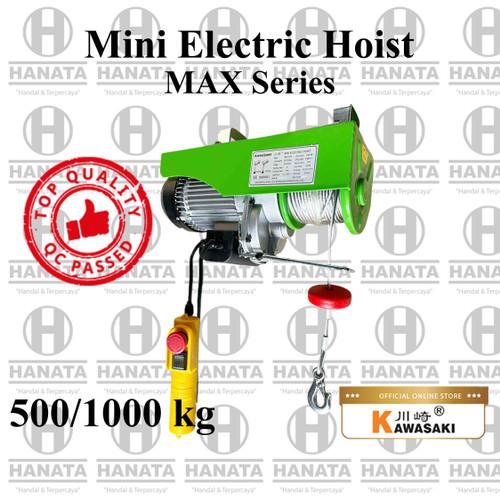 Foto Produk Kawasaki Mini Electric Hoist 1F 500/1000 Kg x 30/15 M (GARANSI 1TAHUN) dari Hanata Lifting Official