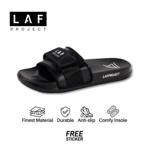 Foto Produk Sandal Slide Pria Sendal Slip on Anti Licin Ringan Hitam Zulu LAFProje - 39 dari LAF Project