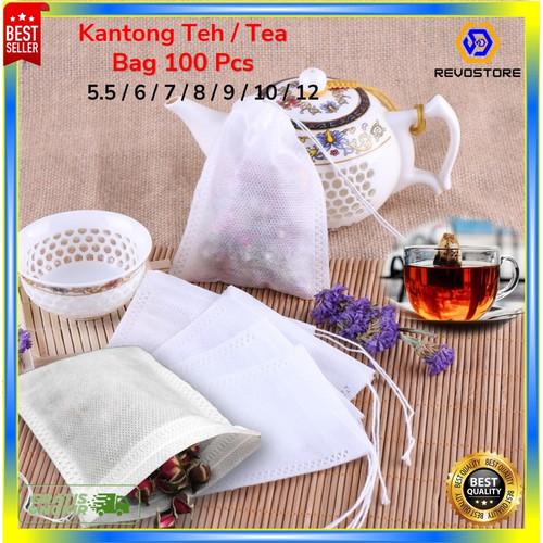 Foto Produk Kantong Teh Celup 100 PCS / Paper Bag Tea / Filter Kertas Teh 100 PCS - 5.5 X 7CM dari REVOSTORE Mart