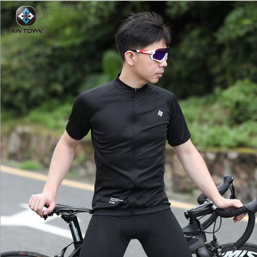 Foto Produk Xintown jersey sepeda roadbike mtb pria wanita polos Hitam - S dari vesantra
