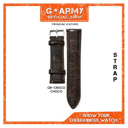 Foto Produk Tali Kulit / Strap Jam Tangan Kulit / Leather Size 14, 18, 20, 22mm - A - CROCO CHOCO, 20MM dari G Army Official Shop