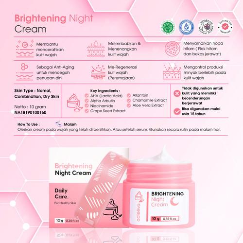 Foto Produk Adleeva - DayLight Cream   Brightening Night Cream   Acne Night Cream - BRIGHT NIGHT dari adleeva by adeeva