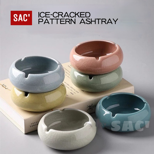 Foto Produk ASHTRAY II Ice Crack Ceramic Ashtray Asbak Keramik Motif Pecah 5 Color - PINK dari Shop at Christine's