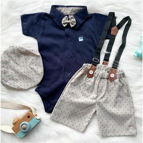 Foto Produk bisa COD baju jumper setelan pesta bayi cowok laki bestseller -col - Merah dari babyclothingco