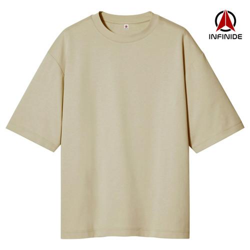 Foto Produk Infinide T-Shirt Kaos Polos BIG OVERSIZE KHAKI Baju Pria Wanita Kaos - S, KHAKI dari Infinide Official Store