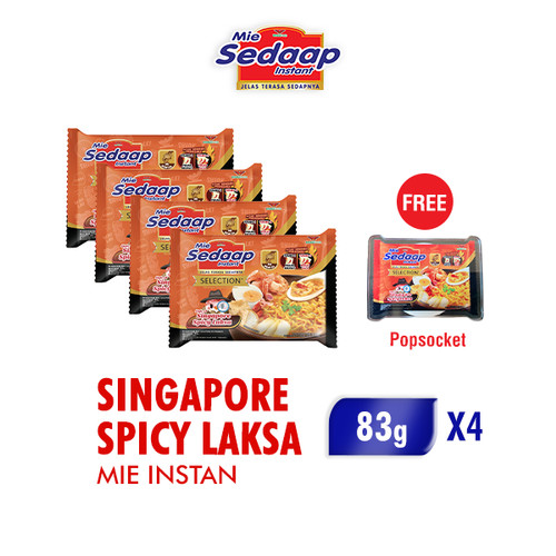 Foto Produk Sedaap Mie Instan Singapore Spicy Laksa 83 Gr x 4 Pcs dari Wings Official Store