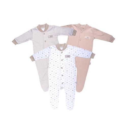 Foto Produk FLUFFY Sleepsuit Tutup Kaki (Isi 3Pcs) KDSK KKI S/M/L - 6-9 Bulan dari FLUFFY Baby Wear