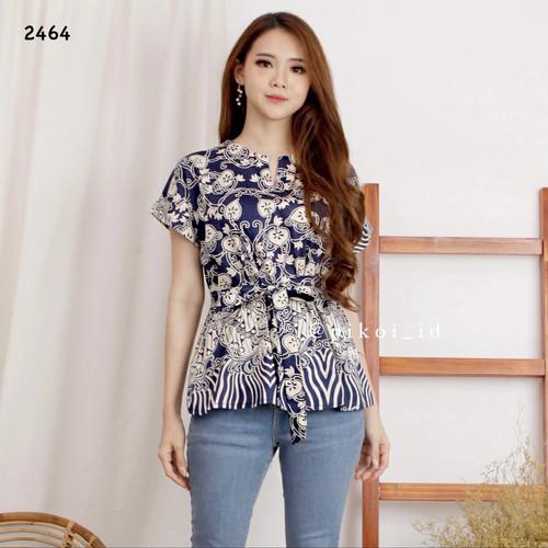 Foto Produk Baju batik modern / atasan wanita / batik murah / batik anak muda cewe - NAVY dari Pikoi_id